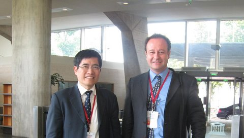 Augusto Soto with Professor Tong Shijun, Vice President of the Shanghai Academy of Social Sciences, UNESCO, Paris, June 2011.doc